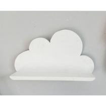 Nicho Estante Nuvem Madeira Maciça Organizador Para Pelúcia