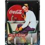 Placa Metal Coca Cola - Have A Coke 15x21 Cm - Vintage
