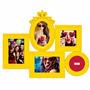 Quadro Porta Retrato Provençal Amarelo Para 5 Fotos - Luxo