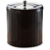Cesto Lixo Lixeira Luxo 5 Litro Clean Banheiro Toalete Preta