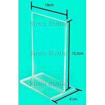 Display 10x15 Cm Vert. Ps Cristal Kit C/ 10 Unid.t Invertido