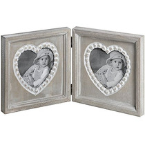 Photo Frame - Double Heart Chique Fotografia Rustic