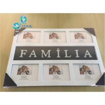Porta Retrato Familia Quadro Painel Branco Fotos