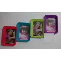 Porta Retrato Quadro Colorido Para 4 Fotos 10x15 Cm