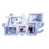 Painel Mural Quadro De Fotos Porta Retratos 5 Fotos Love