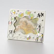 Porta Retrato Infantil Prateado Abc 13 X 18 Cm 30108 Rojema