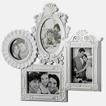 Porta Retrato Branco De Parede Retro Vintage_casa Do Divino