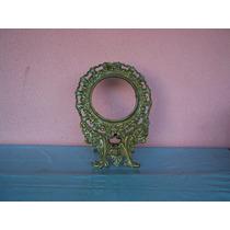 Antigo Porta Retrato Espelho De Mesa Em Bronze. Rico.