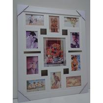 Quadro Painel De Fotos - 11 Fotos - Mod. Lisa - Cor Branca
