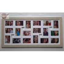 Quadro Porta Retrato Painel De Fotos -18 Fotos - Mod Treliça