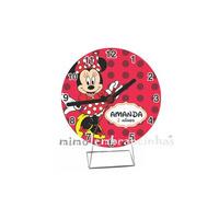10 Relógio Minnie Vermelha Personalizados, Lembrancinhas