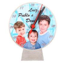 20 Relógios Acílico Tipo Cd Personalizados Tema Festa Logo