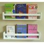 Trio Prateleira Decorativa Livros Revisteiro 60x11,5x10cm