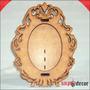 Porta Retrato Espelho Branca De Neve P/ Fotos 10x15 Cm