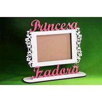 Porta Retrato Coroa Princesa Personalizado Nomes Aniversario