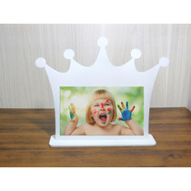 Porta Retrato Coroa Provençal Mdf Branco