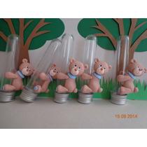 Lembrança Nascimento/anivers Biscuit Tubete Urso Ou Ursa