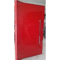 Porta Pivotante De Alumínio Vermelho 1300x2400 Esquadrirmãos