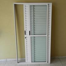 Porta Balcão 3..fls De Alum 2.10 X 1.20 Branca L-25 C/fec