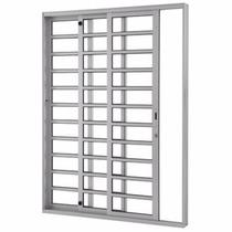 Porta De Alumínio De Correr 1,6 X 2,10 M 3 Folha