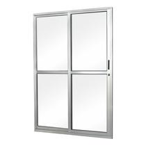 Porta De Correr Em Alumínio Vidro Liso 2 Folhas Abertura