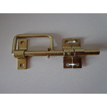 Trinco/ferrolho C/ Alça-bicromatizado-20cm -portas/janelas-3