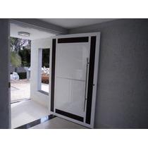 Porta De Alumínio Branco 2,1 X 1,0 Mt Abrir Com Vidro