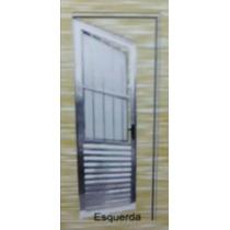 Porta Social Alumínio Brilhante 2100x800 Esquerda
