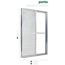 Porta Balcão Alumínio Branco 2,10 X 1,20 Com Fechadura