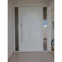 Porta De Alumínio Branco 2,1 X 1,2 Mt Abrir Com Vidro
