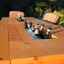 Mesa Cooler Madeira De Demolição