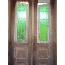 Lindíssima Porta Antiga De Duas Folhas Madeira Nobre