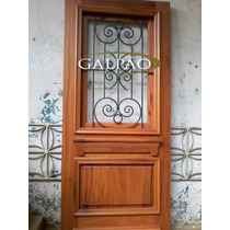 Porta De Madeira De Demolição Peroba Rosa 1 Folha 2.10x100