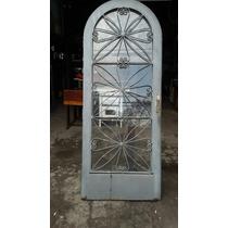 Porta Colonial Capela Antiga De Ferro E Vidro 0.85 X 2.08