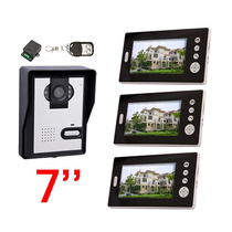 3 Em 1 Interfone 7 Color Monitor Câmara Wireless Video Door
