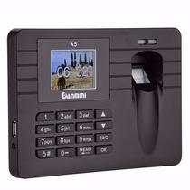 Relógio Ponto Leitora Biométrico Digital Senha E Cartão