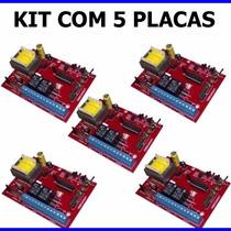 Kit 5 Central Placa Portão Eletrônico Ppa Rossi Peccinin