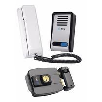 Kit Interfone Porteiro Eletrônico F8 C/ Fechadura C90 Hdl