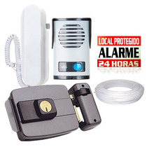 Kit Interfone Porteiro Eletrônico Agl+ Fechadura Elétrica