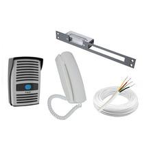 Kit Interfone Ecp + Fecho Elétrico + Cabo 20m - Frete Grátis