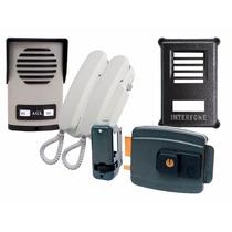 Porteiro Coletivo 2 Pontos+2 Interfones+fechadura+protetetor