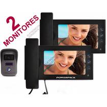 Porteiro Eletrônico 2 Monitores Módulos Internos Extensão 7