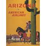 Avião Viagem Arizona Cavalgada Cavalos Usa Us Poster Repro