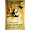 Champanhe Leon Chandon Bebida França Vintage Poster Repro