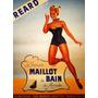 Garota Roupa De Baixo California Loja Vintage Poster Repro