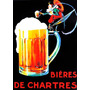 1094- Placa Decorativa Cerveja Choop Bieres De Chartres Beer