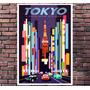 Poster Exclusivo Tokyo Carros Cars Pixar Disney - 30x42cm
