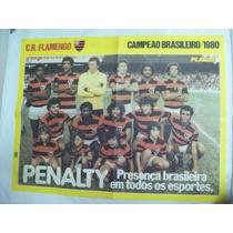 Poster Dupla Face Flamengo Campeão Brasileiro 1980