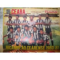 Pôster Placar Ceará - Bi-campeão Cearense 80/81