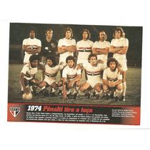 Poster São Paulo Na Taça Libertadores Da América 1974 Placar